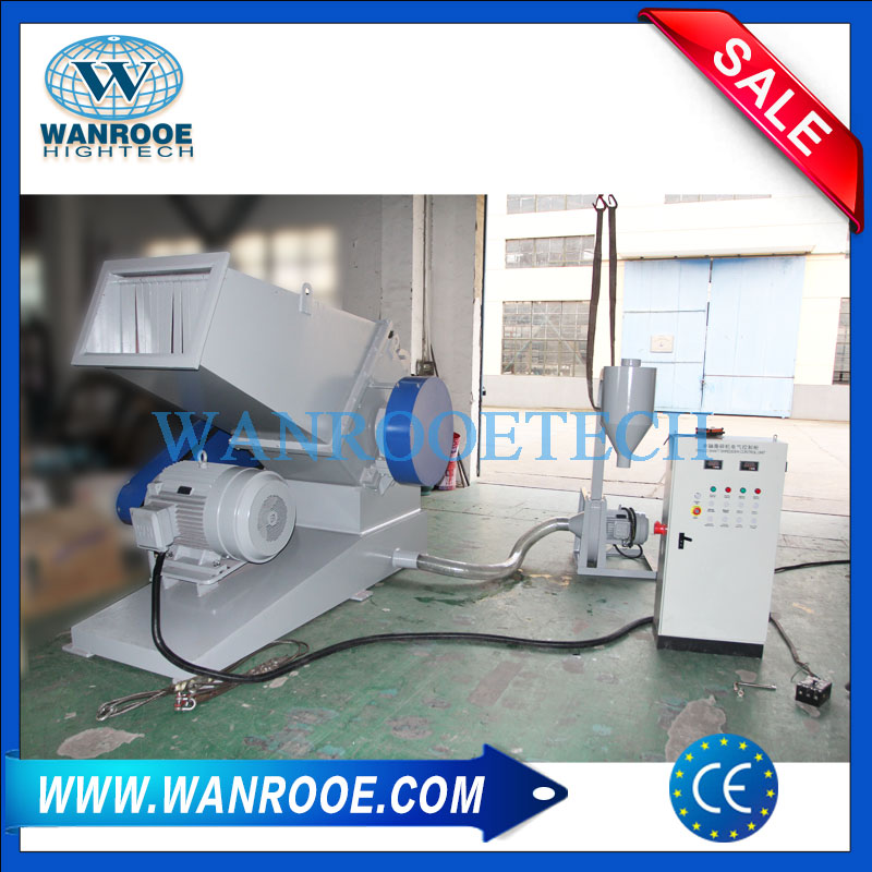 PVC Plastic Pipe Crusher Grinder HDPE PP Plastic Tube Grinding Machine